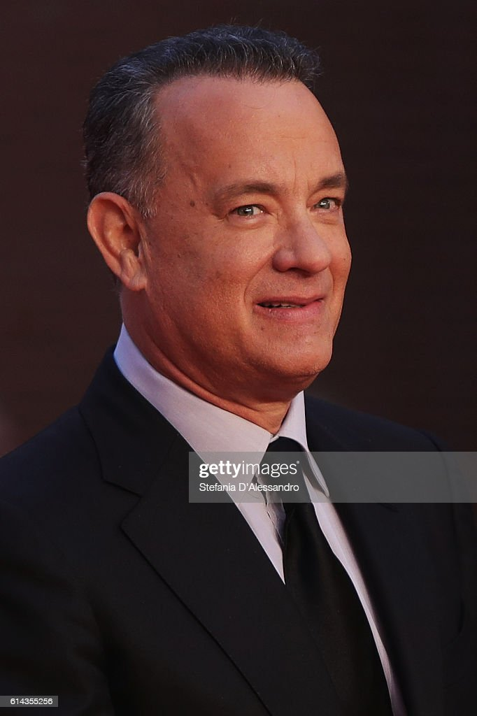 Actor Tom Hanks walks the red carpet on October 13, 2016 in Rome, Italy.