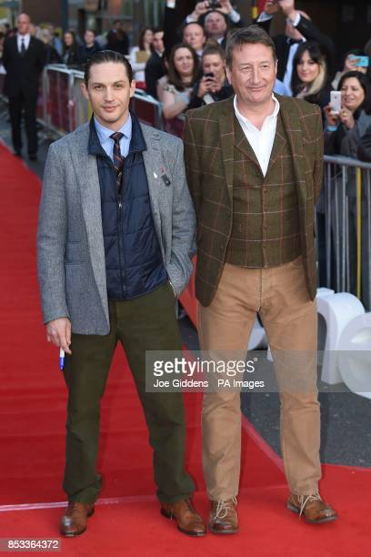 Actor Tom Hardy and director Steven Knight attend the premiere of their film Locke at Cineworld Broad Street, Birmingham.
