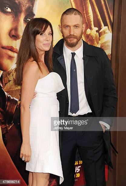Actor Tom Hardy and Kelly Marcel arrive at the Mad Max Fury Road Los Angeles Premiere at TCL Chinese Theatre IMAX on May 7 2015 in Hollywood...