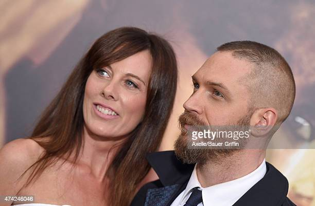 Actor Tom Hardy and writer Kelly Marcel arrive at the Los Angeles premiere of 'Mad Max: Fury Road' at TCL Chinese Theatre IMAX on May 7, 2015 in...
