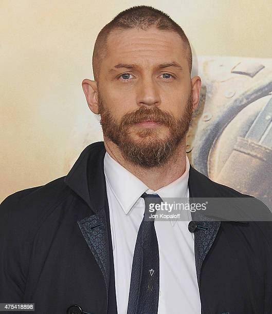 Actor Tom Hardy arrives at the Los Angeles Premiere Mad Max Fury Road at TCL Chinese Theatre IMAX on May 7 2015 in Hollywood California