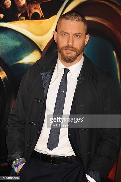 """Actor Tom Hardy arrives at the premiere of """"Mad Max: Fury Road"""" held at the TCL Chinese Theater in Hollywood."""