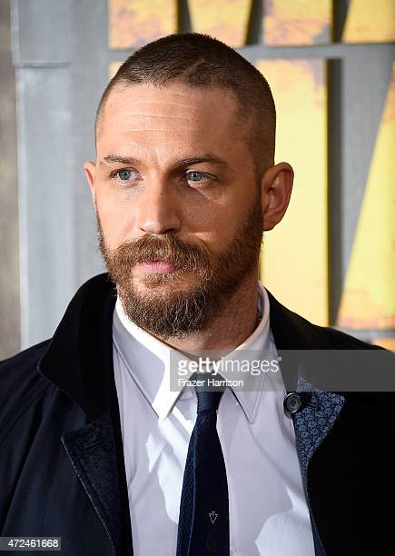 """Actor Tom Hardy arrives at the Premiere Of Warner Bros. Pictures' """"Mad Max: Fury Road"""" at TCL Chinese Theatre on May 7, 2015 in Hollywood, California."""