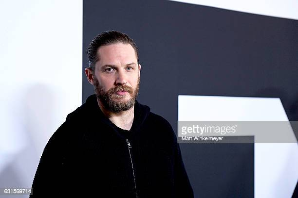 Actor Tom Hardy arrives at the Winter TCA Tour FX Starwalk at Langham Hotel on January 12, 2017 in Pasadena, California.