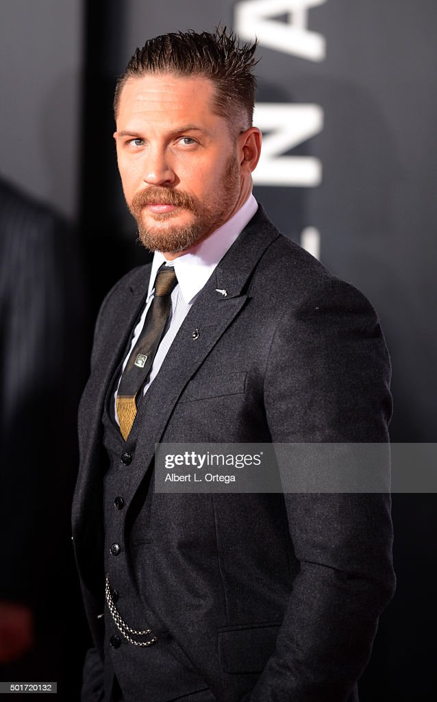 Actor Tom Hardy arrives for the premiere of 20th Century Fox And Regency Enterprises' 'The Revenant' held at TCL Chinese Theatre on December 16, 2015 in Hollywood, California.
