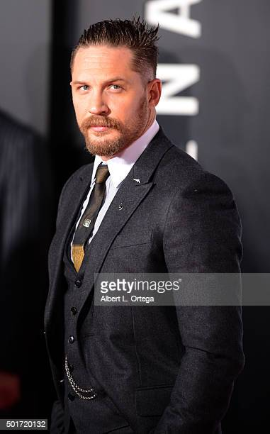 Actor Tom Hardy arrives for the premiere of 20th Century Fox And Regency Enterprises' 'The Revenant' held at TCL Chinese Theatre on December 16 2015...