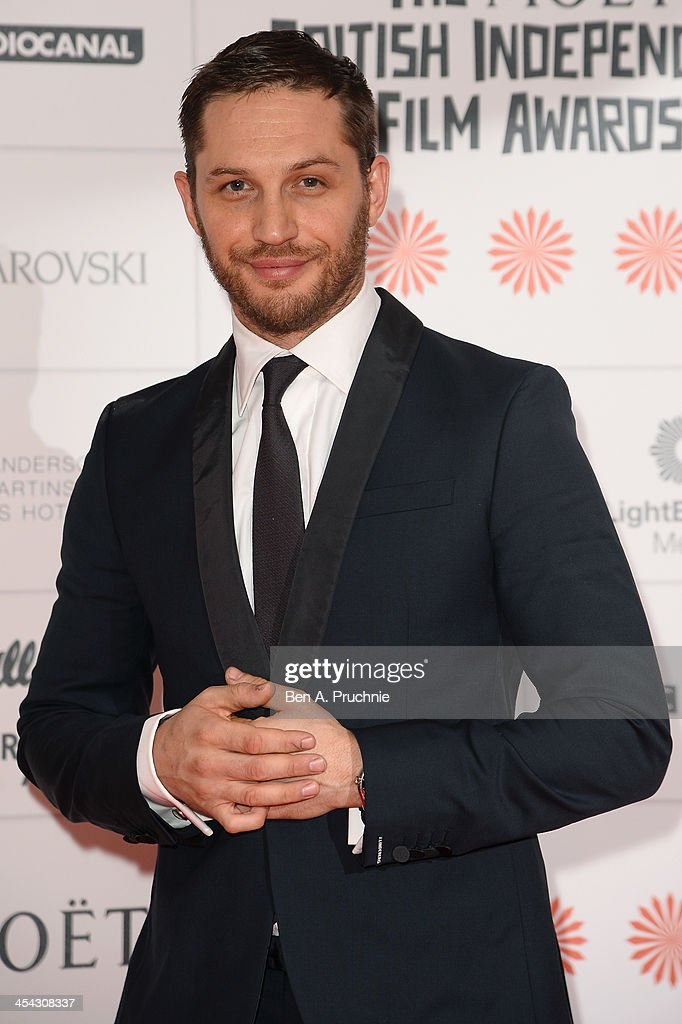 Actor Tom Hardy arrives on the red carpet for the Moet ...