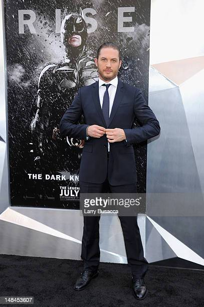 Actor Tom Hardy attends 'The Dark Knight Rises' premiere at AMC Lincoln Square Theater on July 16 2012 in New York City