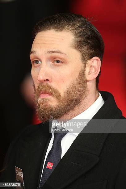 Actor Tom Hardy attends the EE British Academy Film Awards 2014 at The Royal Opera House on February 16 2014 in London England