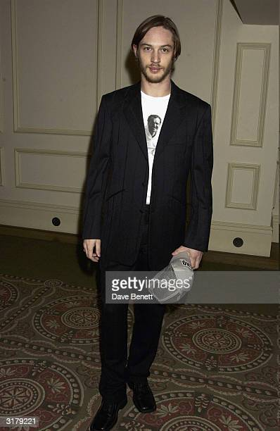 Actor Tom Hardy attends the Evening Standard Drama Awards at the Savoy Hotel, November 24th 2003 in London.