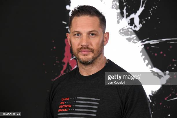 """Actor Tom Hardy attends the photo call for Columbia Pictures' """"Venom"""" at Four Seasons Hotel Los Angeles at Beverly Hills on September 27, 2018 in Los..."""
