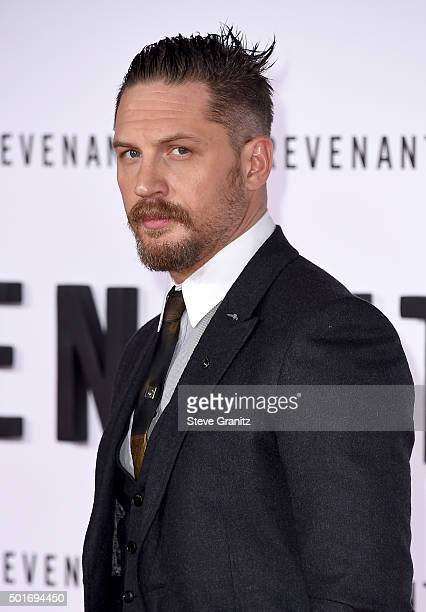 """Actor Tom Hardy attends the premiere of 20th Century Fox and Regency Enterprises' """"The Revenant"""" at the TCL Chinese Theatre on December 16, 2015 in..."""