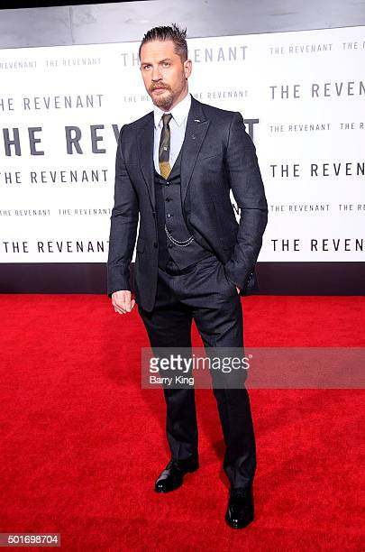Actor Tom Hardy attends the premiere of 20th Century Fox's 'The Revenant' at TCL Chinese Theatre on December 16 2015 in Hollywood California