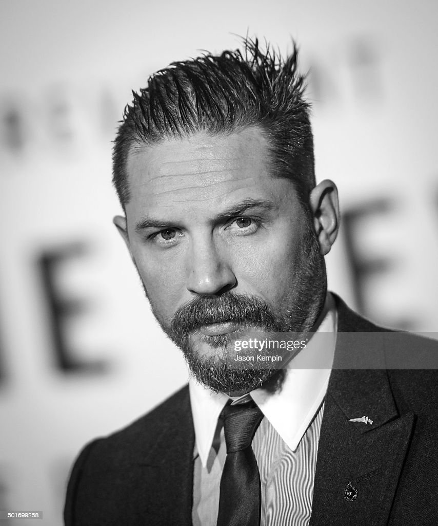 Actor Tom Hardy attends the premiere of 20th Century Fox's 'The Revenant' at TCL Chinese Theatre on December 16, 2015 in Hollywood, California.