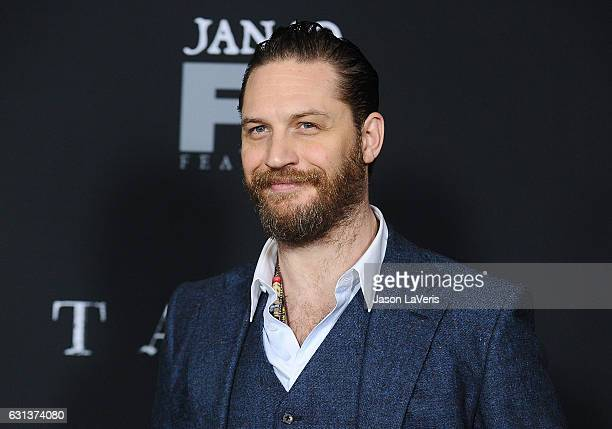 """Actor Tom Hardy attends the premiere of """"Taboo"""" at DGA Theater on January 9, 2017 in Los Angeles, California."""