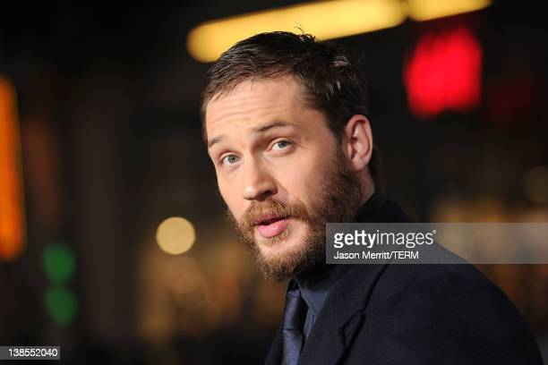 Actor Tom Hardy attends the premiere of Twentieth Century Fox's 'This Means War' held at Grauman's Chinese Theatre on February 8, 2012 in Hollywood,...