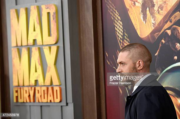 """Actor Tom Hardy attends the premiere of Warner Bros. Pictures' """"Mad Max: Fury Road"""" at TCL Chinese Theatre on May 7, 2015 in Hollywood, California."""