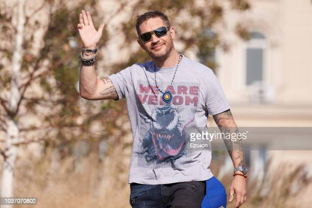 Actor Tom Hardy attends the 'Venom' photocall at Zaryadie park on September 21, 2018 in Moscow, Russia.