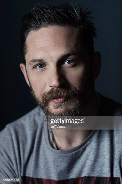 Actor Tom Hardy of 'Legend' poses for a portrait at the 2015 Toronto Film Festival at the TIFF Bell Lightbox on September 13 2015 in Toronto Ontario