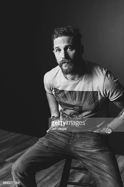 Actor Tom Hardy of Legend poses for a portrait at the 2015 Toronto Film Festival at the TIFF Bell Lightbox on September 13 2015 in Toronto Ontario