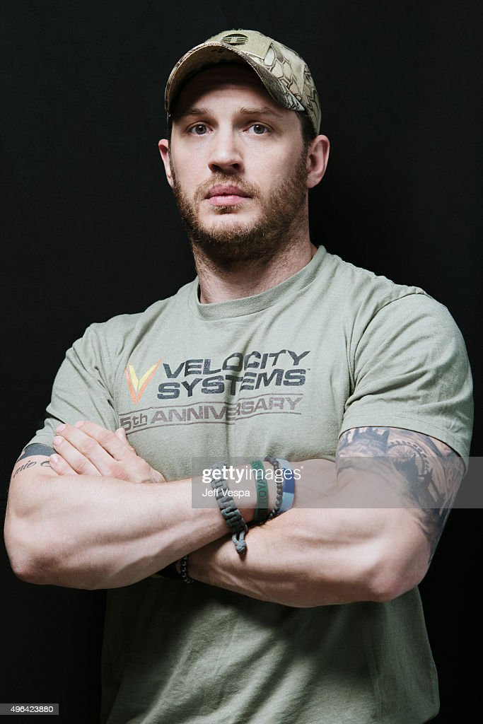 "Actor Tom Hardy of ""Legend"" poses for a portrait at the ..."