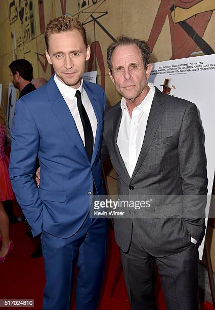 """Actor Tom Hiddleston and Director/Screenwriter Marc Abraham attend the premiere of Sony Pictures Classics' """"I Saw The Light"""" at the Egyptian Theatre..."""