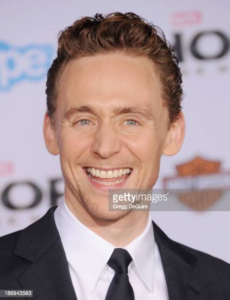 Actor Tom Hiddleston arrives at the Los Angeles premiere of 'Thor The Dark World' at the El Capitan Theatre on November 4 2013 in Hollywood California