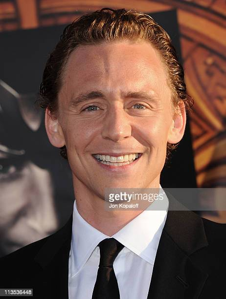 Actor Tom Hiddleston arrives at the Los Angeles Premiere Thor at the El Capitan Theatre on May 2 2011 in Hollywood California