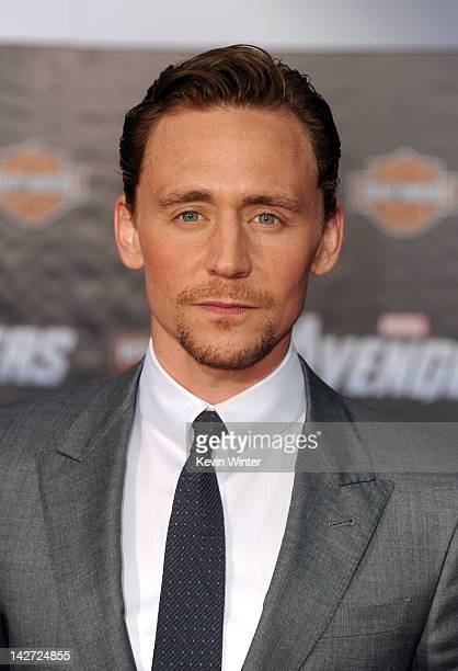 """Actor Tom Hiddleston arrives at the premiere of Marvel Studios' """"The Avengers"""" at the El Capitan Theatre on April 11, 2012 in Hollywood, California."""