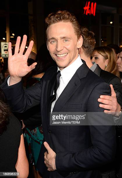 Actor Tom Hiddleston arrives at the premiere of Marvel's Thor The Dark World at the El Capitan Theatre on November 4 2013 in Hollywood California