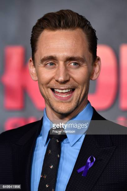 Actor Tom Hiddleston arrives at the Premiere of Warner Bros Pictures' 'Kong Skull Island' at Dolby Theatre on March 8 2017 in Hollywood California