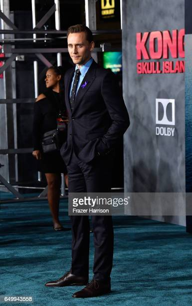 Actor Tom Hiddleston arrives at the Premiere of Warner Bros Pictures' Kong Skull Island at Dolby Theatre on March 8 2017 in Hollywood California