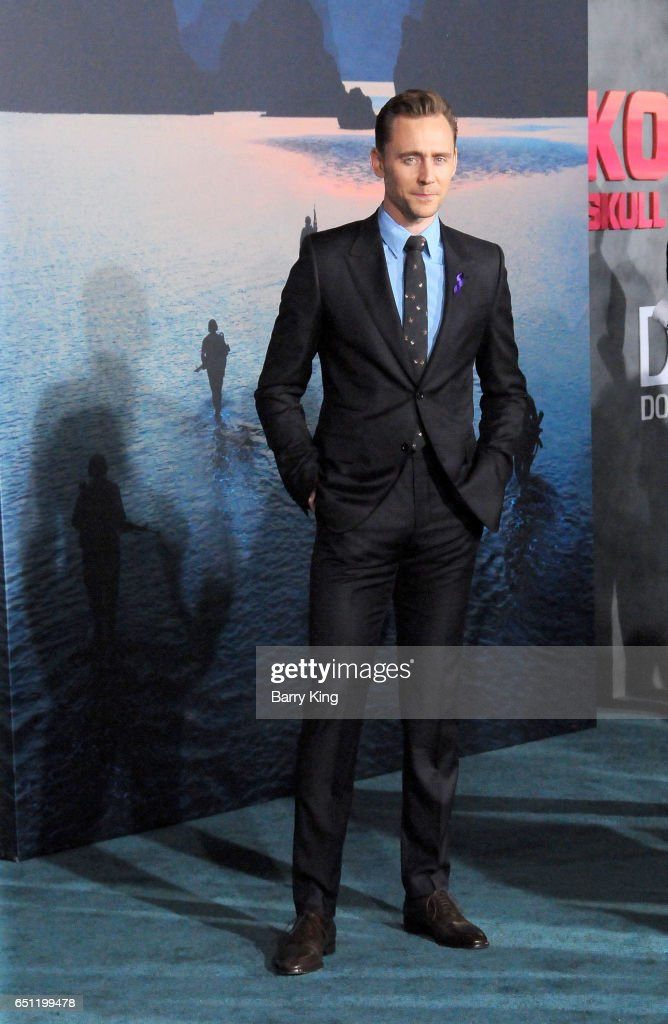 Actor Tom Hiddleston arrives for the Premiere of Warner Bros. Pictures' 'Kong: Skull Island' at Dolby Theatre on March 8, 2017 in Hollywood, California.