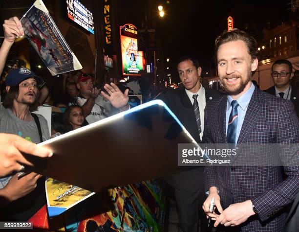 Actor Tom Hiddleston at The World Premiere of Marvel Studios' 'Thor Ragnarok' at the El Capitan Theatre on October 10 2017 in Hollywood California