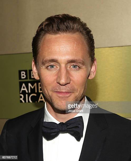 Actor Tom Hiddleston attends AMC Networks Emmy Party at BOA Steakhouse on September 18 2016 in West Hollywood California