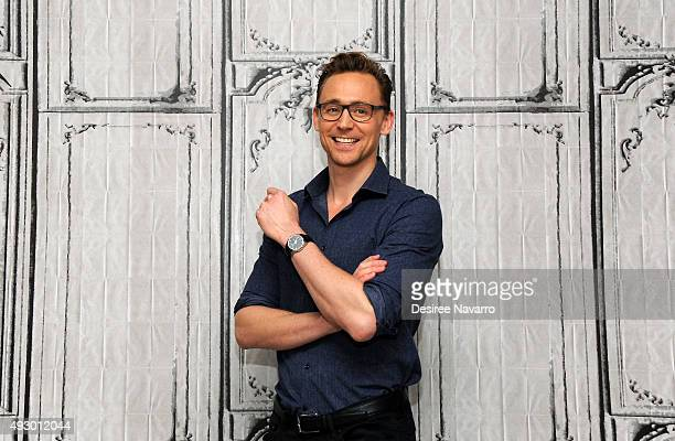 Actor Tom Hiddleston attends AOL BUILD Presents Crimson Peak at AOL Studios In New York on October 16 2015 in New York City