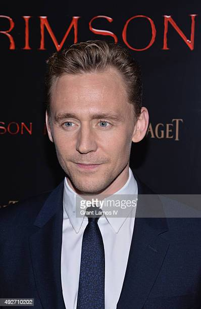 Actor Tom Hiddleston attends Crimson Peak New York Premiere at AMC Loews Lincoln Square on October 14 2015 in New York City