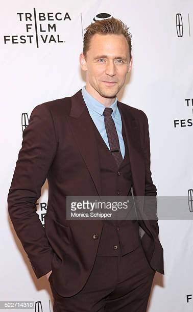 Actor Tom Hiddleston attends HighRise Premiere 2016 Tribeca Film Festival at SVA Theatre 2 on April 20 2016 in New York City