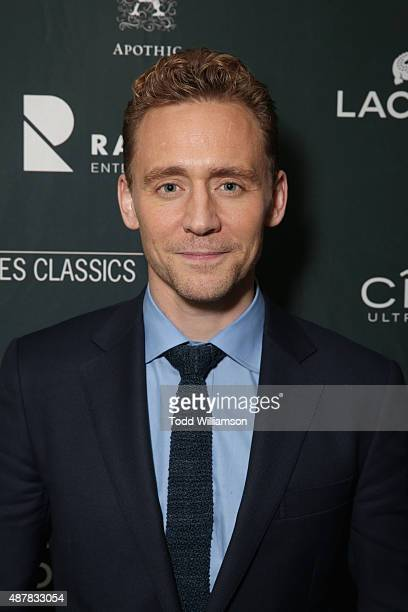 Actor Tom Hiddleston attends Sony Pictures Classics after party for 'I Saw The Light' sponsored by Lacoste and Ciroc at The Addison Residence on...