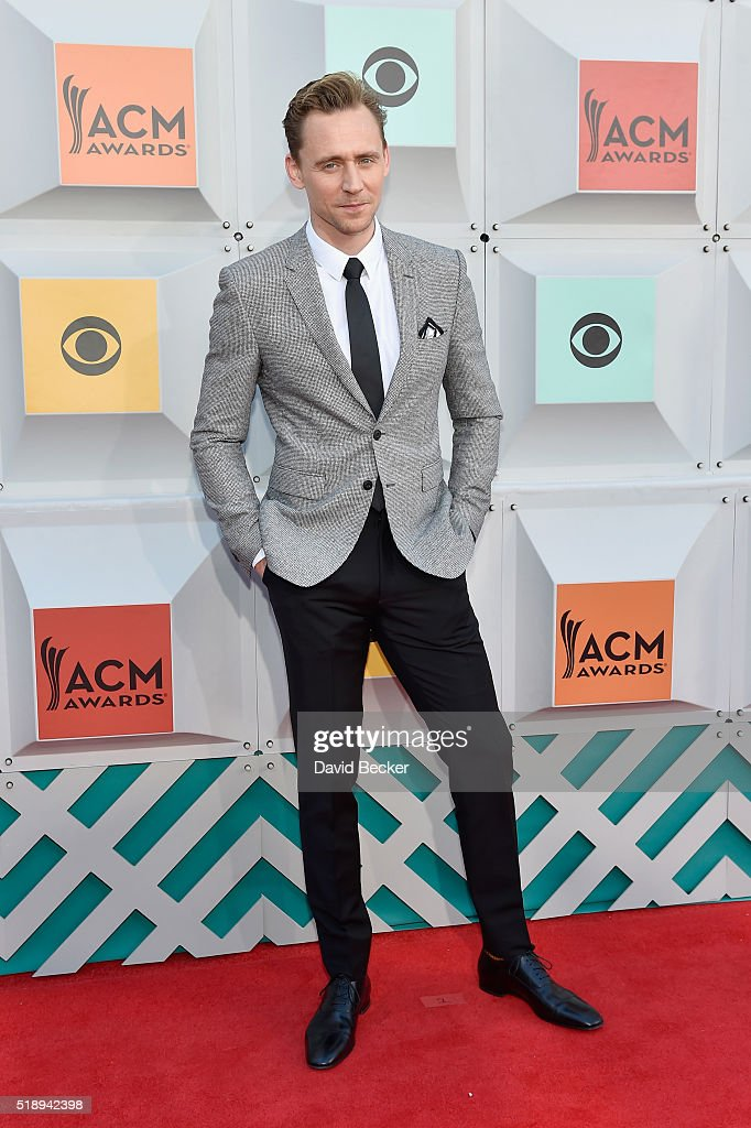 Actor Tom Hiddleston attends the 51st Academy of Country Music Awards at MGM Grand Garden Arena on April 3, 2016 in Las Vegas, Nevada.