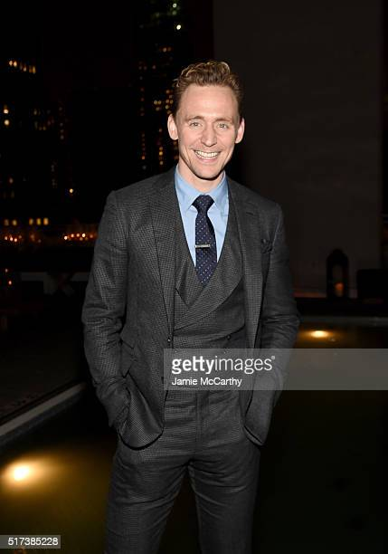Actor Tom Hiddleston attends the after party for the screening of Sony Pictures Classics' 'I Saw the Light' hosted by The Cinema Society with Hestia...