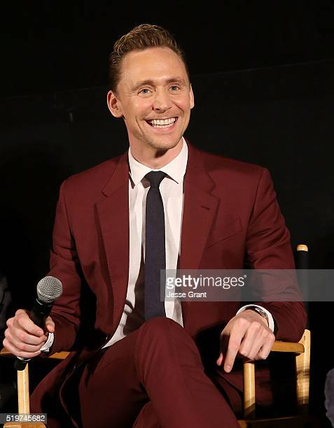 """Actor Tom Hiddleston attends the ATAS/SAG Panel and Screening of AMC's """"The Night Manager"""" at the Egyptian Theater on April 7, 2016 in Los Angeles,..."""