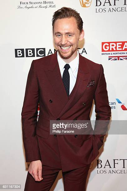 Actor Tom Hiddleston attends The BAFTA Tea Party at Four Seasons Hotel Los Angeles at Beverly Hills on January 7 2017 in Los Angeles California