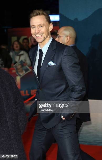 Actor Tom Hiddleston attends the European premiere Of Kong Skull Island at Cineworld Leicester Sqaure on February 28 2017 in London United Kingdom