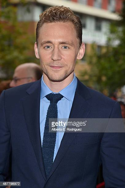 Actor Tom Hiddleston attends the 'I Saw the Light' premiere during the 2015 Toronto International Film Festival at Ryerson Theatre on September 11...