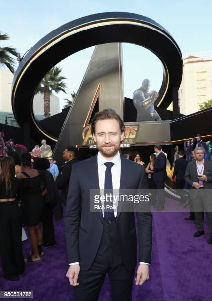 Actor Tom Hiddleston attends the Los Angeles Global Premiere for Marvel Studios' Avengers Infinity War on April 23 2018 in Hollywood California