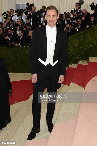 Actor Tom Hiddleston attends the 'Manus x Machina Fashion In An Age Of Technology' Costume Institute Gala at Metropolitan Museum of Art on May 2 2016...