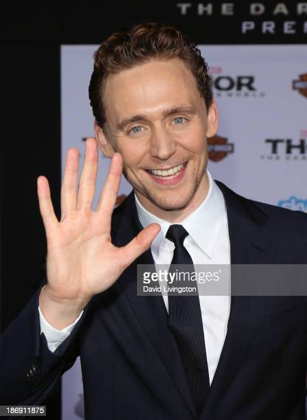 Actor Tom Hiddleston attends the premiere of Marvel's Thor The Dark World at the El Capitan Theatre on November 4 2013 in Hollywood California