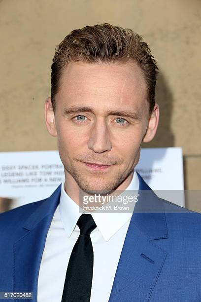 Actor Tom Hiddleston attends the premiere of Sony Pictures Classics' 'I Saw The Light' at the Egyptian Theatre on March 22 2016 in Hollywood...