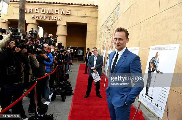 """Actor Tom Hiddleston attends the premiere of Sony Pictures Classics' """"I Saw The Light"""" at the Egyptian Theatre on March 22, 2016 in Hollywood,..."""